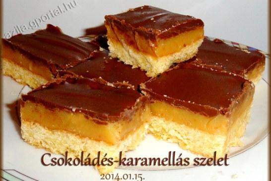Brutálisan krémes Csokoládés-karamellás szelet, recept