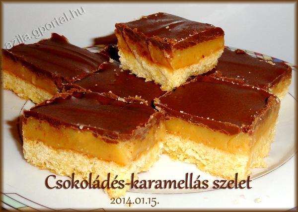 Bruttálisan krémes Csokoládés-karamellás szelet