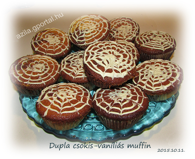 Duplacsokis vaníliás muffin