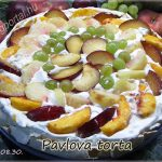 Gyümölcsös Pavlova torta, recept