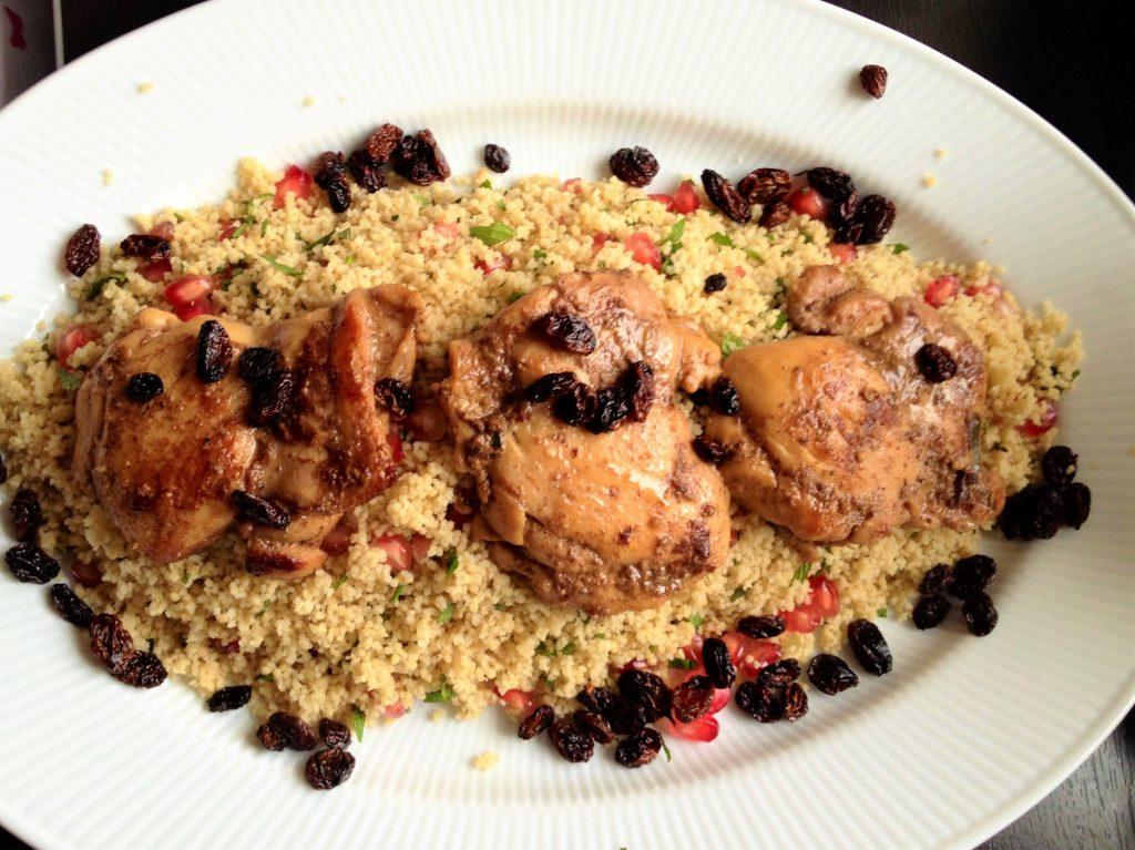 Közel-keleti fűszeres csirke gránátalmával