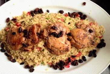 Közel-keleti fűszeres mentás csirke gránátalmával, recept