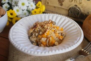Sütőtökös rizottó pirított gombával, recept