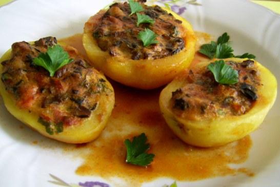 Töltött burgonya – rendhagyó finomság!! Kóstold meg és élvezd ezt a csodás ízt!, recept