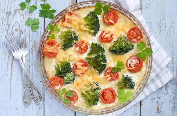 Gyors Tejszínes-brokkolis rakott tészta