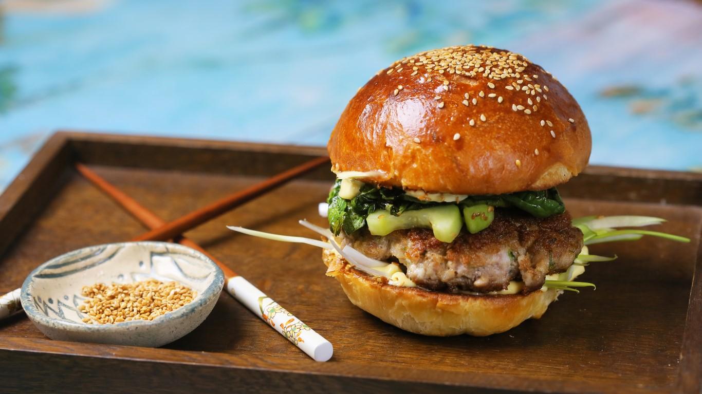 Ázsiai burger malaccsászárral