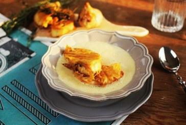 Isteni Fokhagyma krémleves zöldfűszeres Cibatta-val, recept