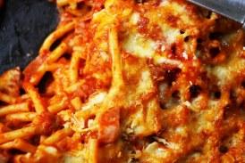Milánói makaróni rengeteg sajttal összesütve, recept