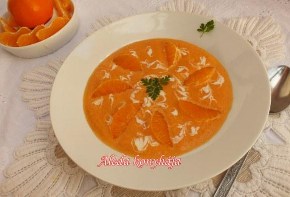 Narancsos sárgarépa leves, recept