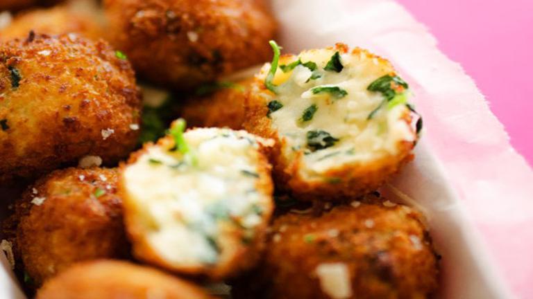 spenótos-sajtos krokettek