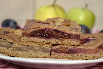 Vörösboros almás-szilvás pite, recept