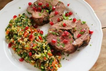Zöldfűszeres báránycomb tabuléval – recept