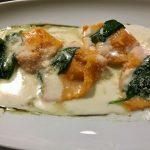 Parmezános Tökpürével töltött tortellini – tejszínes parajjal, recept