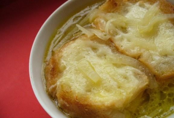 Francia hagymaleves, recept