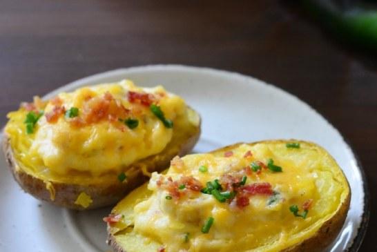 Krémsajtos-jalapenos töltött sült krumpli, recept