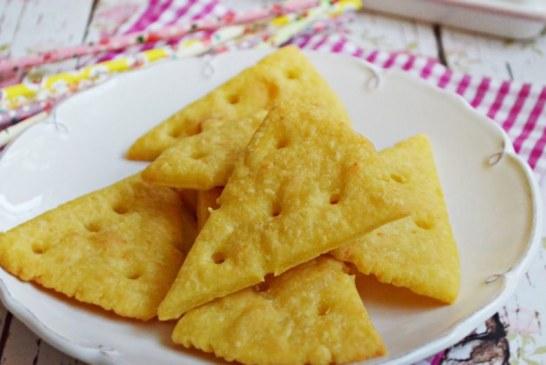 Lyukacsos sajtos kréker, recept