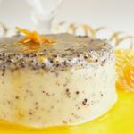 Narancsos-mákos panna cotta, recept
