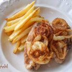 Pár perces hagymás csirkemell , recept