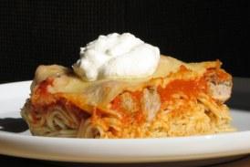 Svéd húsgolyós rakott spagetti, recept