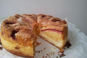 Skandináv réteges rebarbarás pitetorta –  vékony omlós süti, tökéletes vaníliakrém, recept