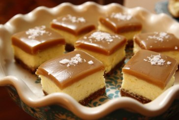 Mennyei karamellás túrókockák, recept