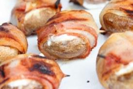 Mennyei Grill - Baconbe tekert , töltött Gombafejek