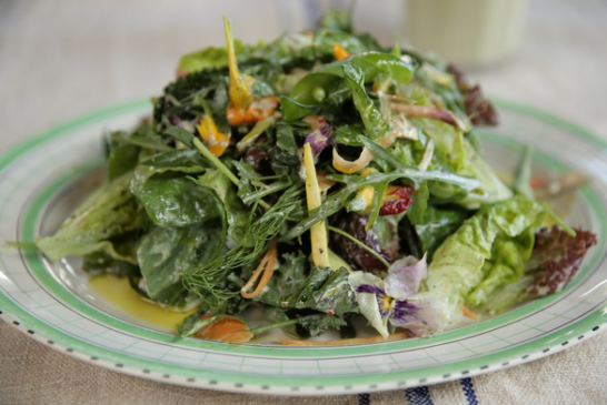 Jamie Oliver - ZÉRÓ zsírtartalmú Saláta és dressing - videó