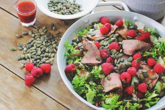 Málna vinaigrettes - Marhahúsos saláta