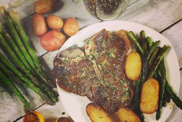 T-bone steak - Fűszervaj, spárga és Ropogós krumpli
