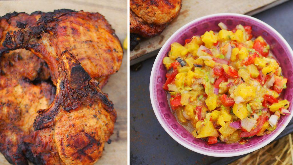 Grill bőségtál - Karajjal és ananász salsával