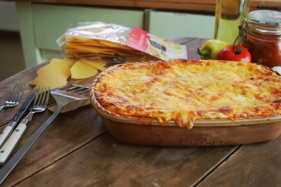Magyaros Lasagne - csirkepaprikás töltelékkel