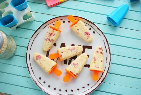 Gyors házi fagyi 1.0 - Tejberizs jégkrém rebarbarával