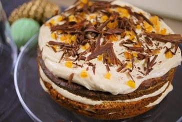 Csokoládés mogyorótorta narancskrémmel - recept