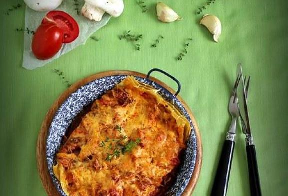 Az egyik legjobb egytálétel - Kolbászos gombás paradicsomos lasagne