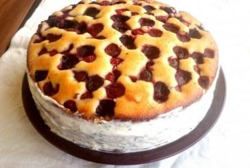 Cseresznyés pite torta - Háromcitromos krémmel