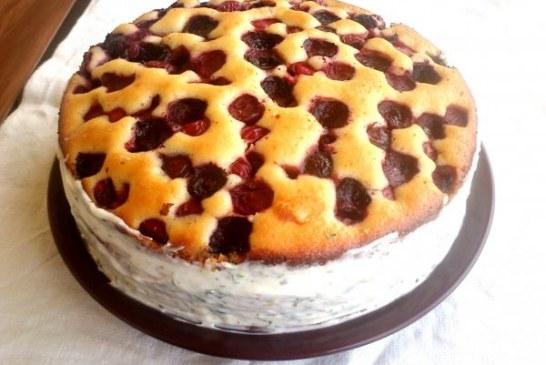 Cseresznyés pite torta – Háromcitromos krémmel