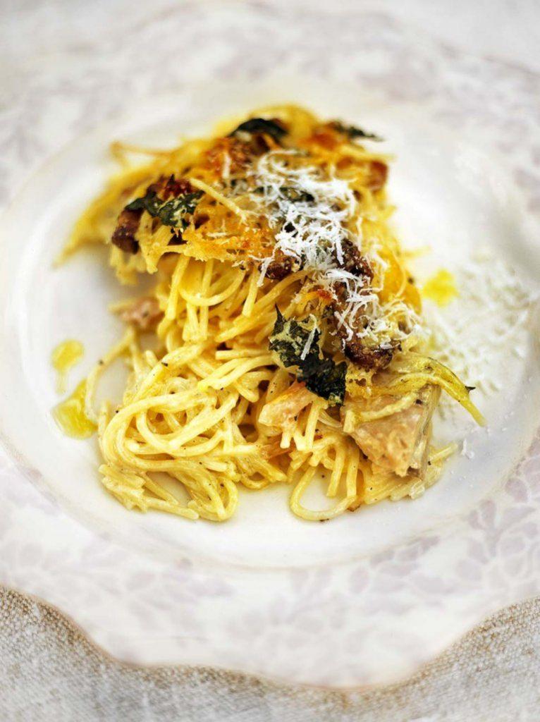 jamie-oliver-csirke-gomba-sult-spagetti-tetrazzini
