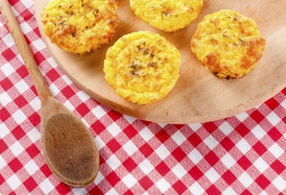 Sajtos röszti muffinsütőben sütve