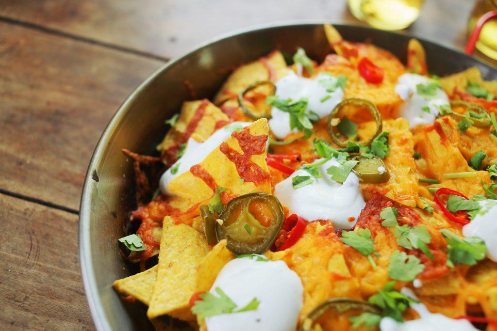 Mozis nachos és salsa
