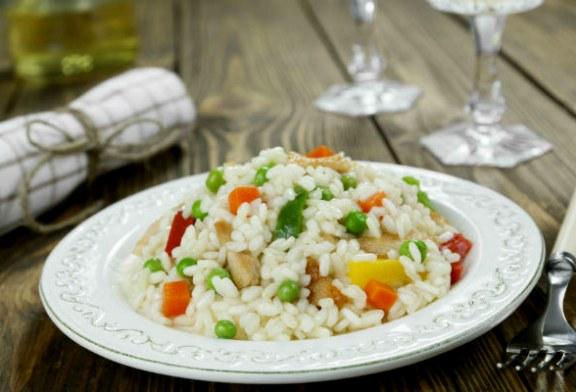 Csirkés rizottó sok zöldséggel