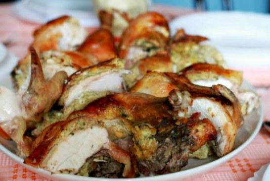 Ropogós, fűszeres sült csirke