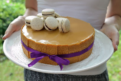 Diós-barackos vaníliahab-torta