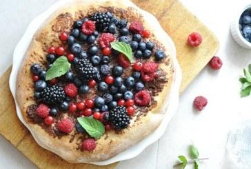 Nutellás gyümölcsös édes pizza, recept