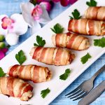 Isteni ebéd vagy vacsora – Baconbe tekert, ízletes csirkefalatkák
