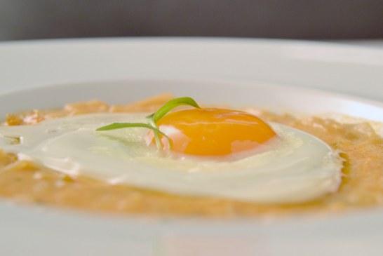 Csomboros tökfőzelék tojással