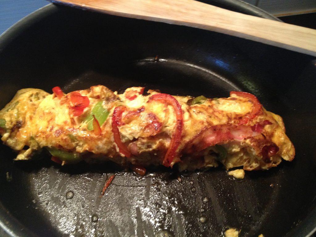 reggeli-bacon-paprika-parmezán-fokhagyma-omlett-tojas