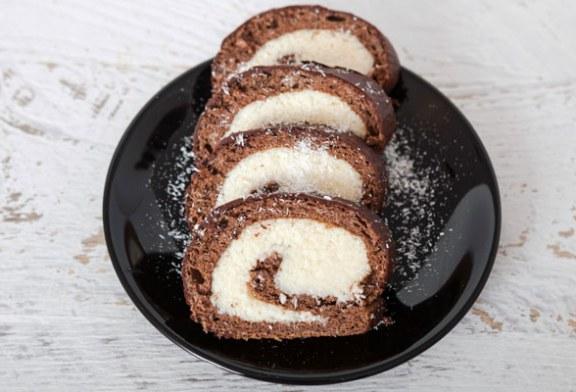 Puha Bounty piskótatekercs – A legfinomabb kókuszos krémmel,recept