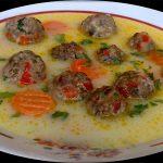 Cukkini leves pirított gombóccal recept