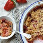 Epres-almás Lisztmentes Crumble (avagy morzsa süti), recept