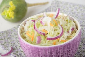 Lilahagymás saláta, recept